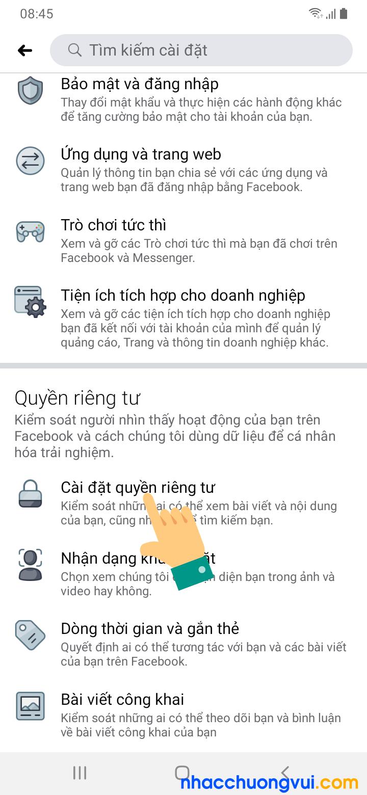 Cách ẩn danh sách bạn bè Facebook trên điện thoại Android Samsung Oppo 3
