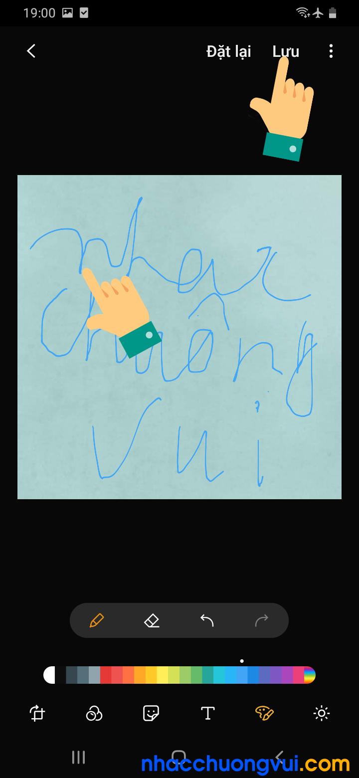 Cách làm avatar chữ viết tay giống với Gucci trên Facebook 6