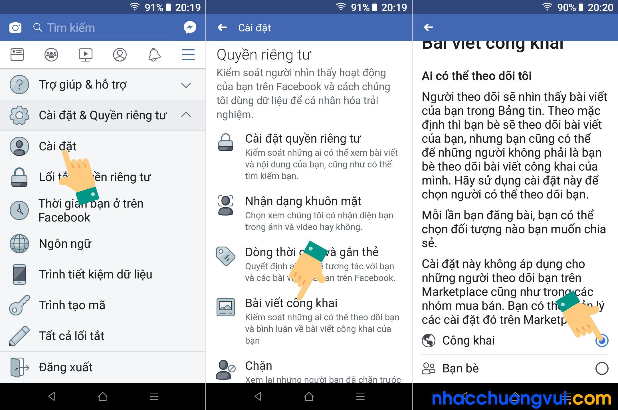 Cách bật nút theo dõi Facebook trên điện thoại