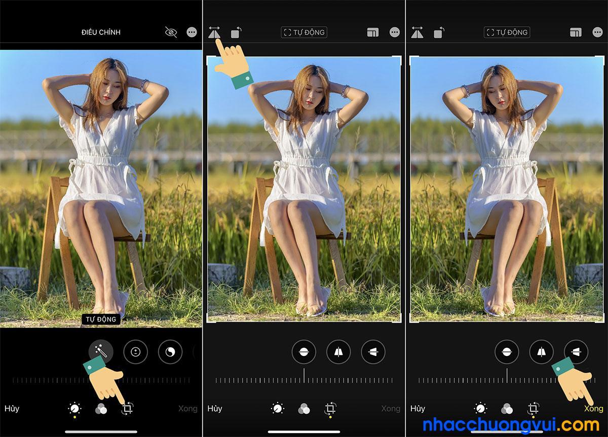 Cách chỉnh camera trước không bị ngược iPhone 2