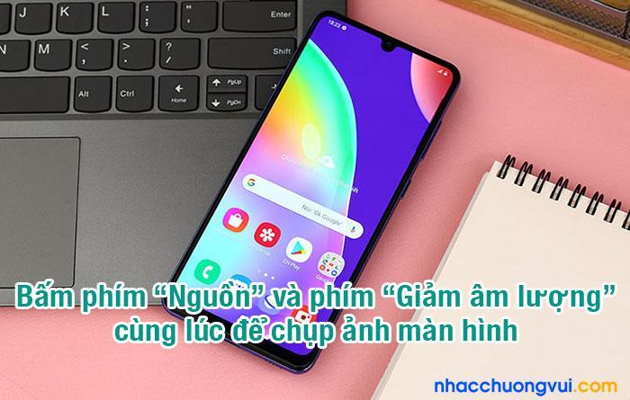 Cách chụp màn hình Samsung A21s