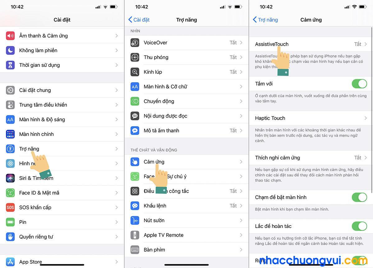 Cách kích hoạt phím home ảo để chụp màn hình iPhone 12