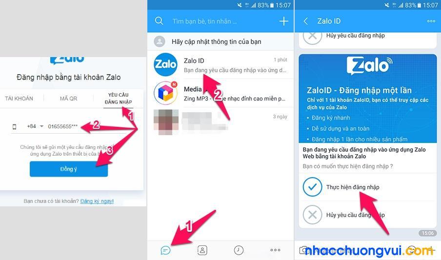 Cách đăng nhập Zalo không cần mật khẩu bằng tin nhắn