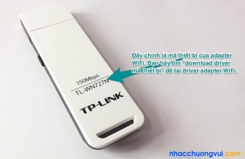 Tìm download driver mã thiết bị để tải về và cài đặt driver adapter WiFi