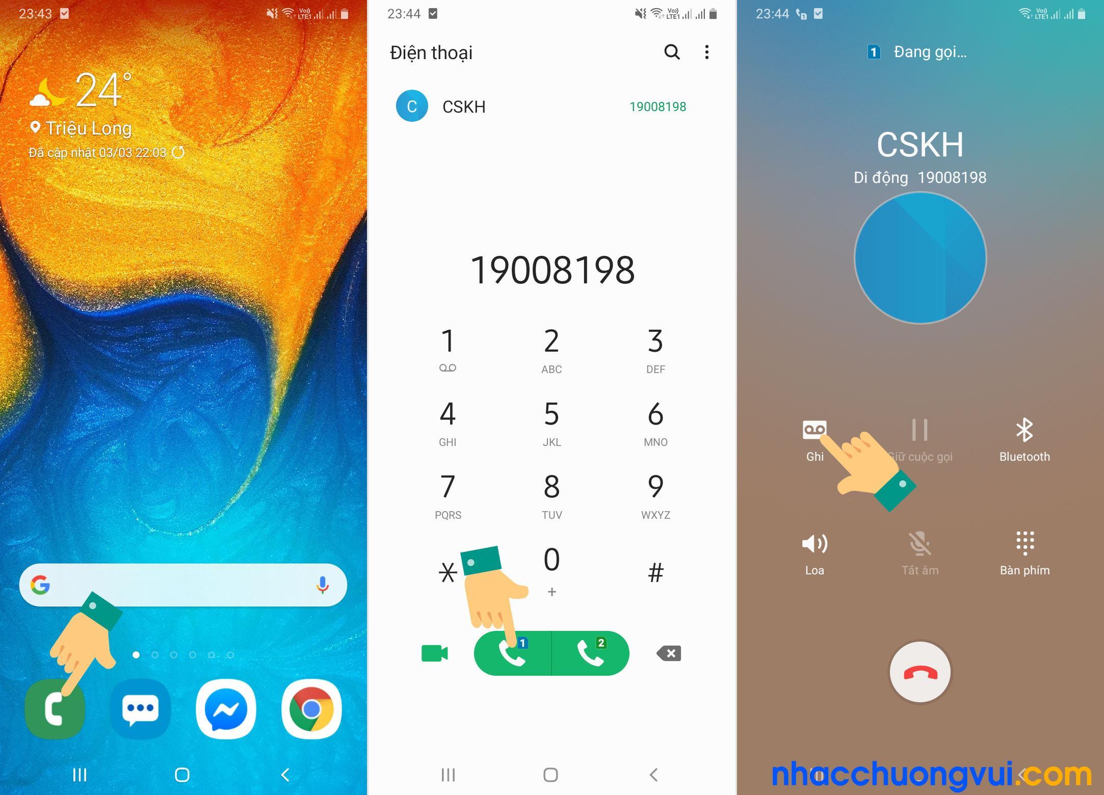 Cách ghi âm cuộc gọi Samsung