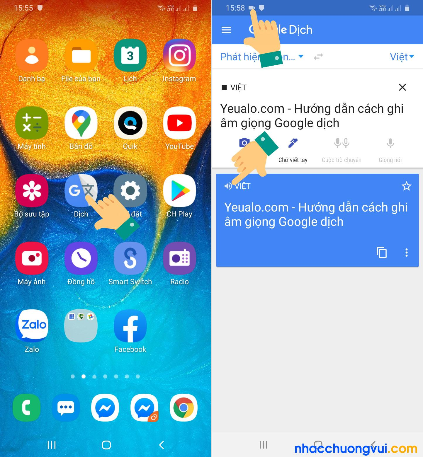 Các bước ghi âm giọng chị Google trên điện thoại