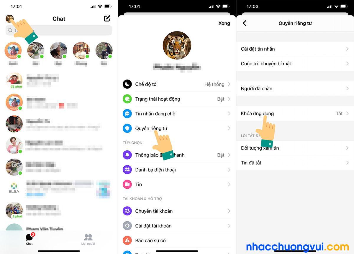 Cách khoá Messenger iPhone bằng Face ID Touch ID
