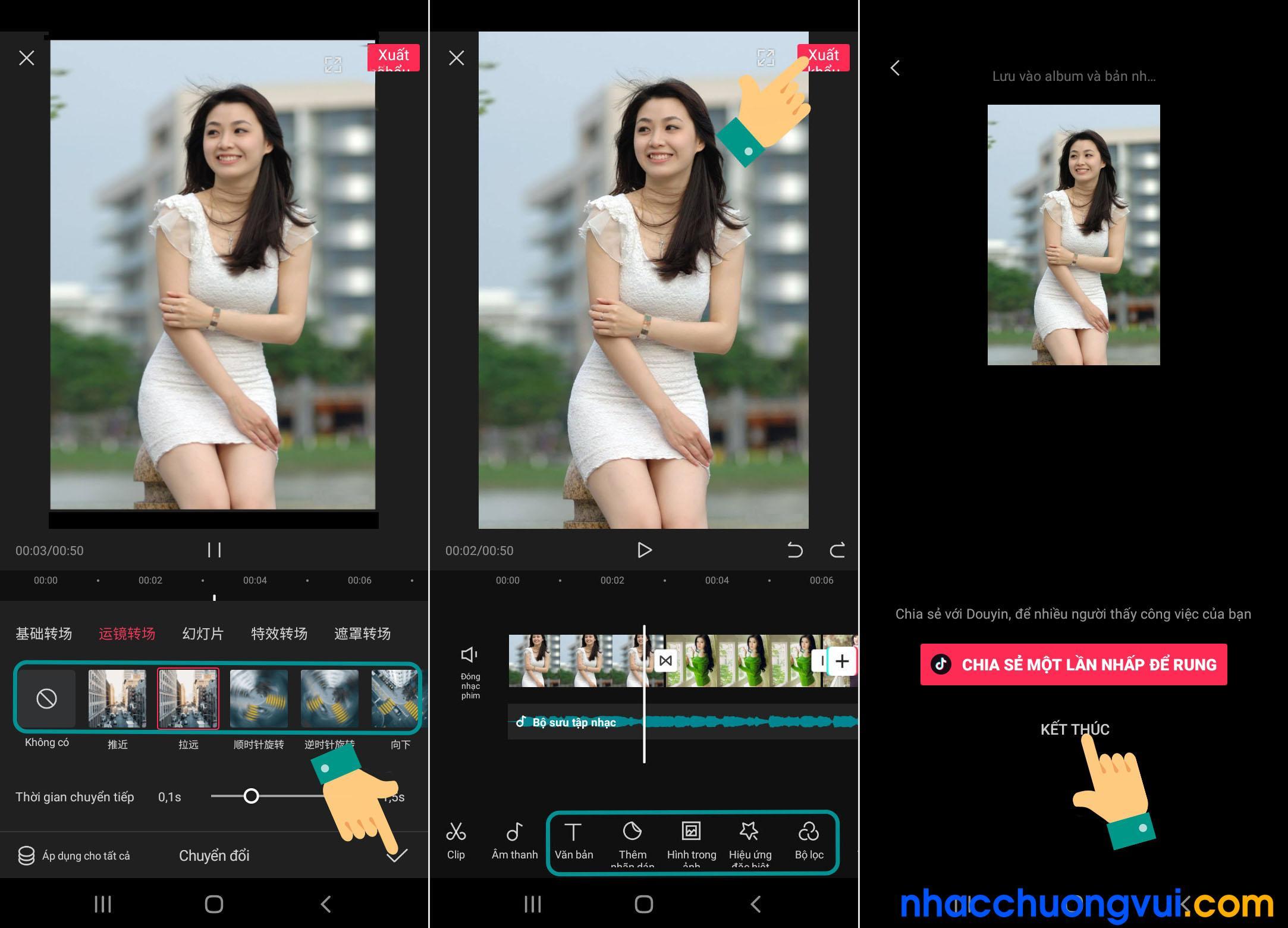 Cách làm video bằng ứng dụng chỉnh sửa video Tik Tok Trung Quốc JianYing 3