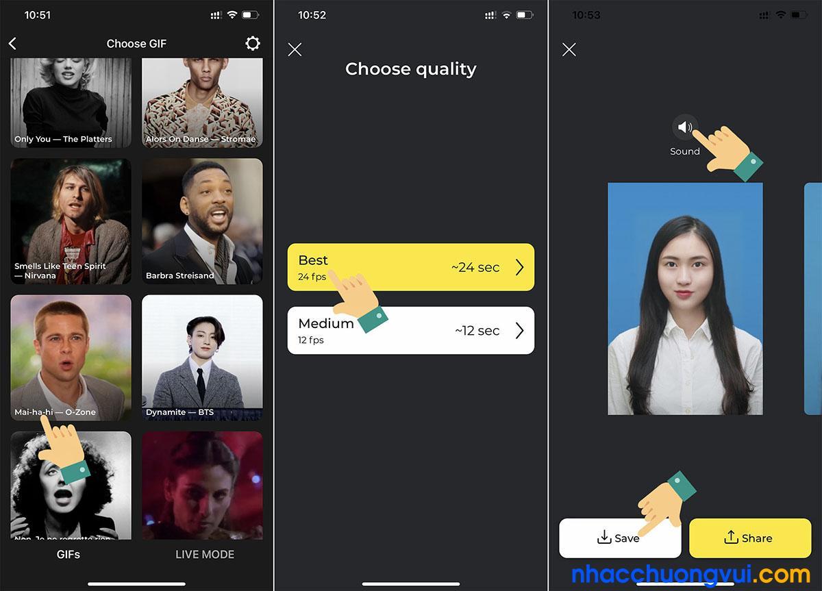 Cách làm video ghép mặt vào ảnh trên TikTok trend Ma ya hi Ma ya ha 2