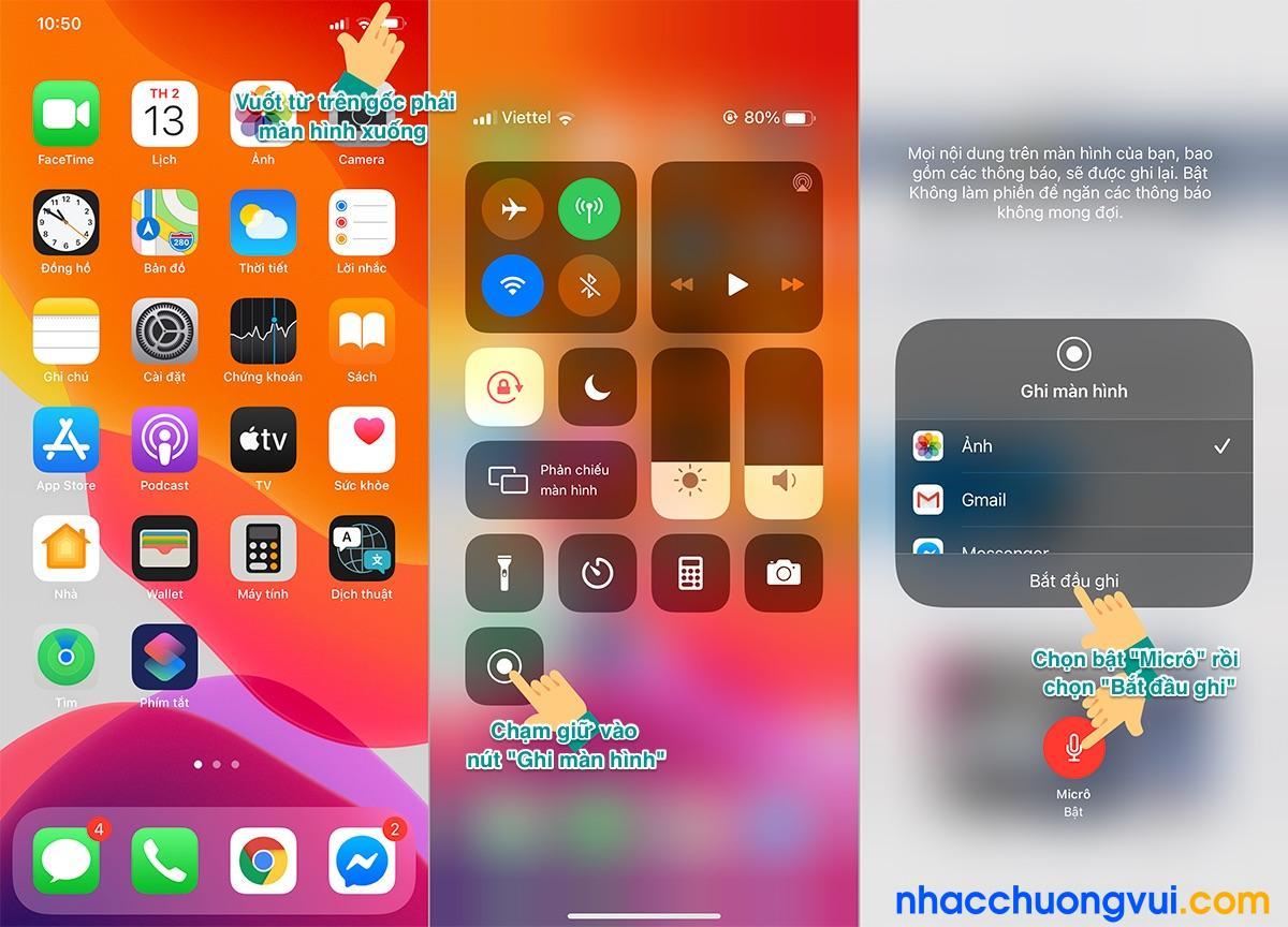 Cách quay màn hình iPhone 12