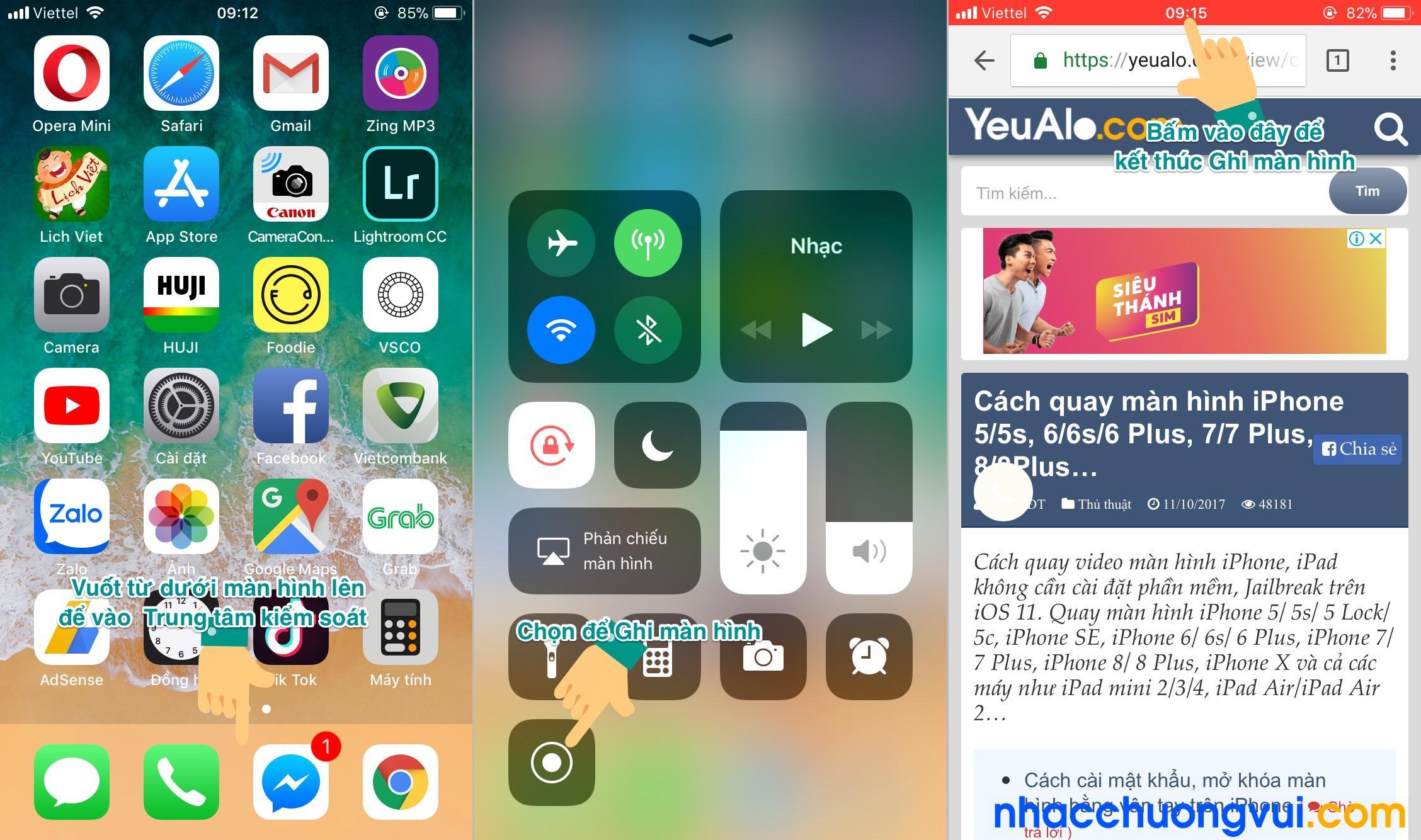 Cách quay màn hình iPhone 2