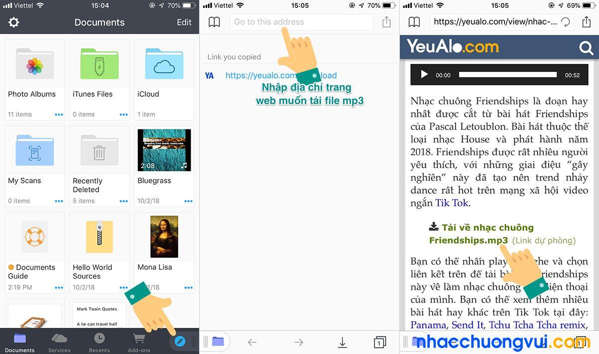 Cách tải file mp3 về iPhone