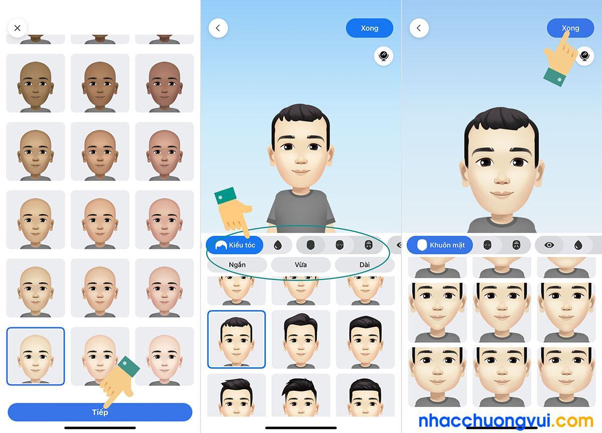Cách tạo avatar sticker hoạt hình trên Facebook giống mình 2