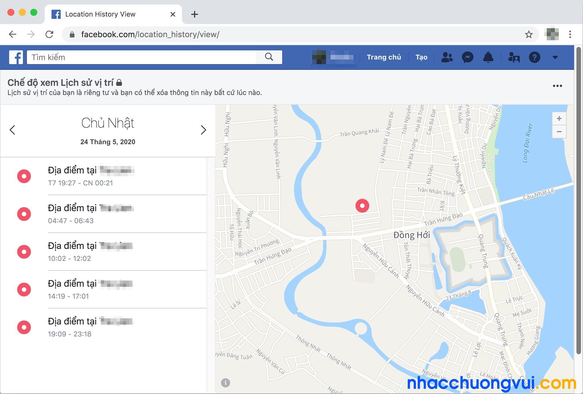 Cách theo dõi vị trí của người khác qua Facebook bằng máy tính
