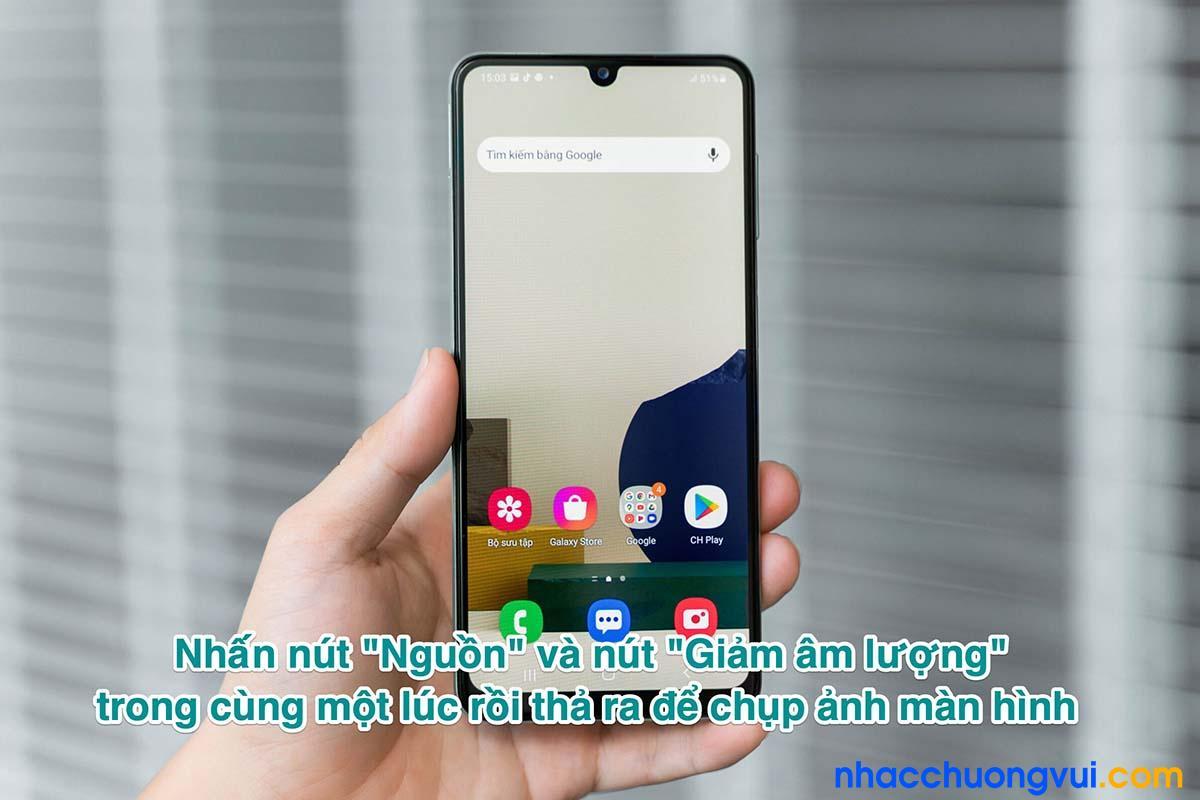 Cách chụp ảnh màn hình Samsung Galaxy A22